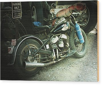 Born In The Usa Wood Print by Christine Till