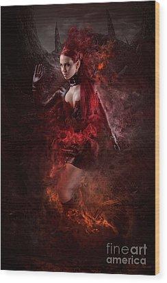 Born Of Fire Wood Print by Robert Palmer