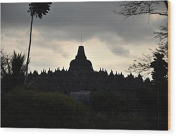 Borobudur Temple Wood Print by Achmad Bachtiar
