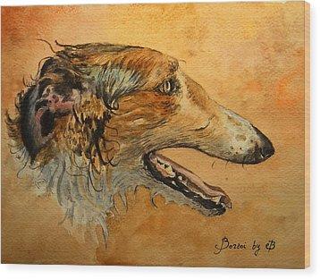 Borzoi Dog Wood Print