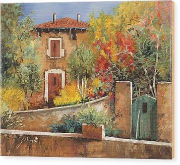 Bosco Giallo Wood Print by Guido Borelli