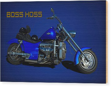 Boss Hoss Chevy V8 Motorcycle Wood Print by Tim McCullough