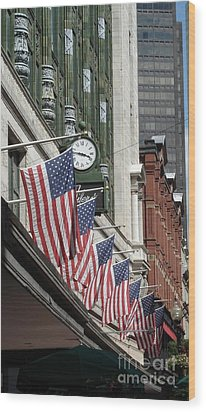 Boston 4th Of July Wood Print by Kerri Mortenson