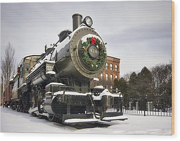 Boston And Maine Locomotive Wood Print by Eric Gendron