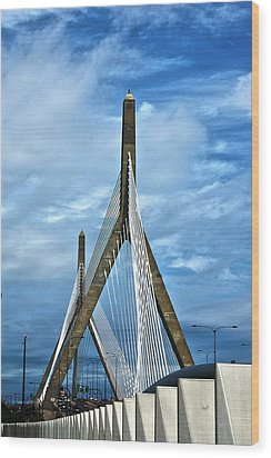 Boston Bridge Wood Print by Melanie McKinney