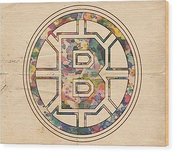 Boston Bruins Poster Art Wood Print