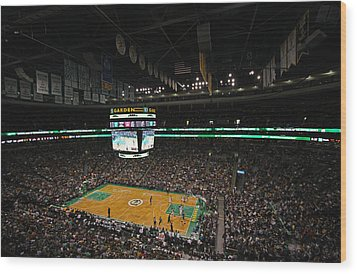 Boston Celtics Basketball Wood Print by Juergen Roth