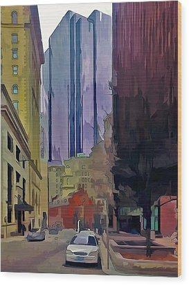 Boston City Centre 2 Wood Print by Yury Malkov