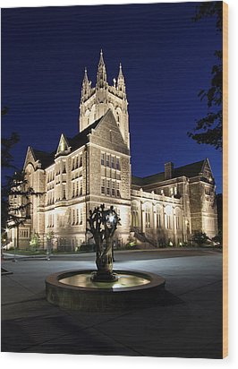 Boston College Gasson Hall Wood Print by Juergen Roth