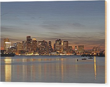Boston Downtown Wood Print by Juergen Roth