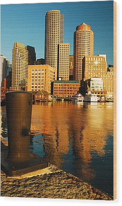 Wood Print featuring the photograph Boston Harbor by James Kirkikis