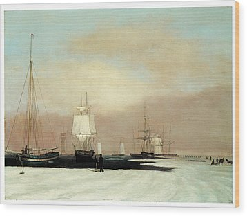 Boston Harbor Wood Print by John Blunt