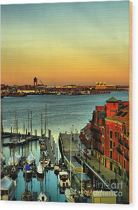 Boston Wood Print by Jeff Breiman