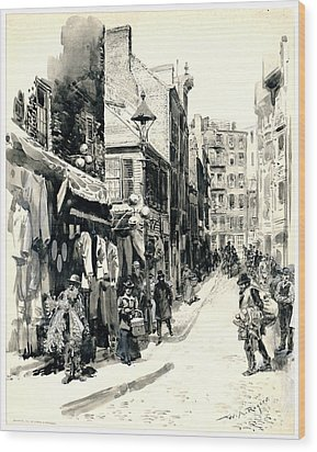 Boston Jewish Quarter 1899 Wood Print by Padre Art