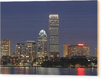 Boston Landmarks And Sheraton Hotel Wood Print by Juergen Roth