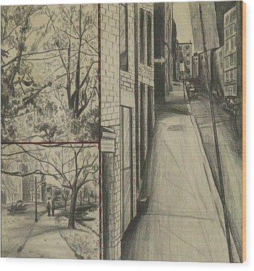 Boston Memories Wood Print