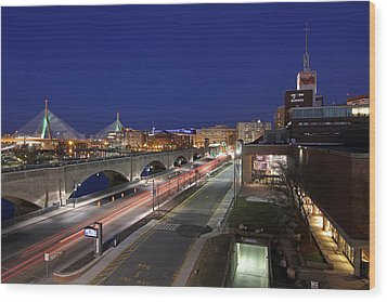 Boston Museum Of Science Wood Print by Juergen Roth