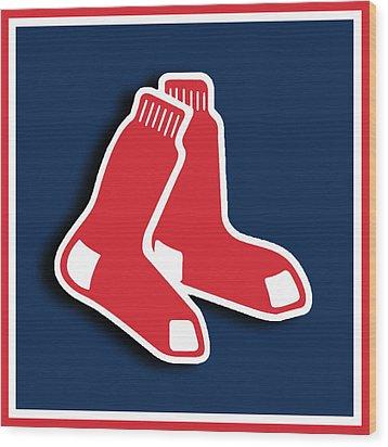 Boston Red Socks Wood Print by Tony Rubino