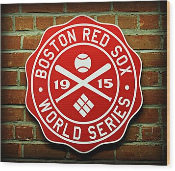Boston Red Sox 1915 World Champions Wood Print by Stephen Stookey