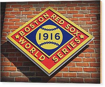 Boston Red Sox 1916 World Champions Wood Print by Stephen Stookey