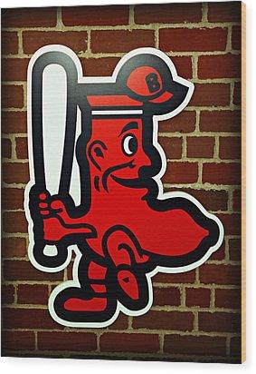 Boston Red Sox 1950s Logo Wood Print by Stephen Stookey