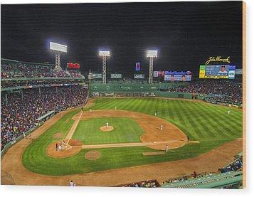 Boston Red Sox And New York Yankees At Fenway Park - Art Wood Print