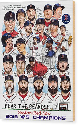 Boston Red Sox Ws Champions Wood Print by Dave Olsen