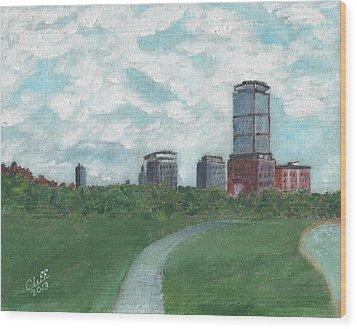 Boston Skyline 1968 Wood Print by Cliff Wilson