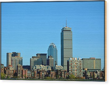 Wood Print featuring the photograph Boston Skyline Prudential Tower by Amanda Vouglas