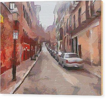 Boston Streets 1 Wood Print by Yury Malkov