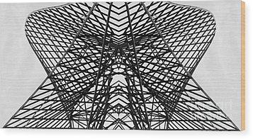 Bostonian Symmetry Wood Print by Sebastian Mathews Szewczyk