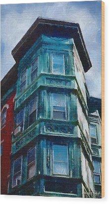 Boston's North End Wood Print by Jeff Kolker