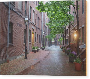 Bostons North End Wood Print