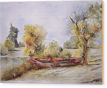 Bote Viejo Wood Print