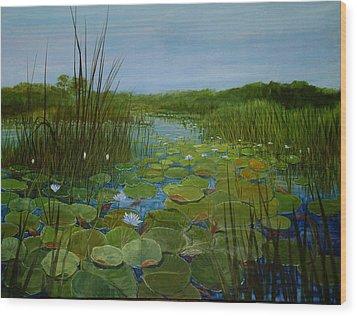 Botswana Lagoon Wood Print