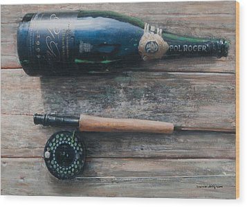 Bottle And Rod I Wood Print by Lincoln Seligman