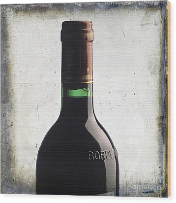 Bottle Of Bordeaux Wood Print by Bernard Jaubert