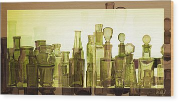 Wood Print featuring the photograph Bottled Light by Holly Kempe
