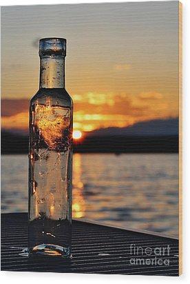 Bottled Sun Wood Print
