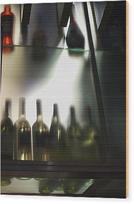 Bottles II Wood Print by Anna Villarreal Garbis