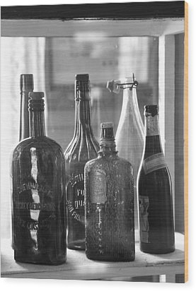 Wood Print featuring the photograph Bottles Of Bodie by Jim Snyder
