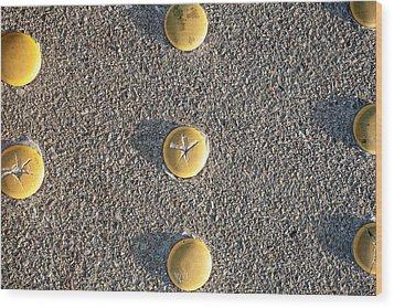 Bott's Dots Wood Print by Peter Tellone