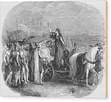 Boudica Leading British Tribes 60 Ad Wood Print by Photo Researchers