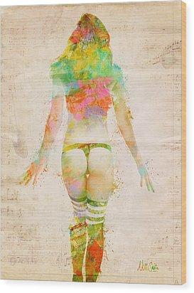Boudoir Sonata Wood Print by Nikki Smith