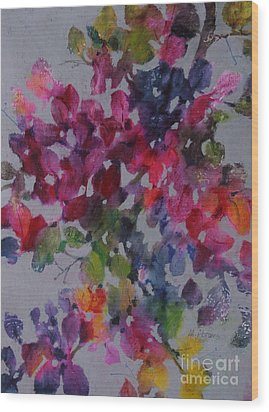 Wood Print featuring the painting Bougainvillea by Michelle Abrams