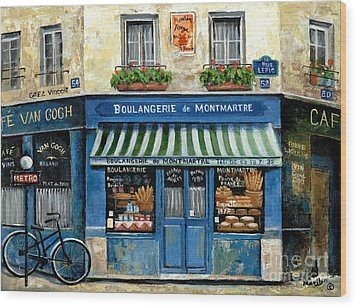 Boulangerie De Montmartre Wood Print by Marilyn Dunlap