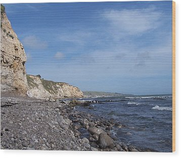 Wood Print featuring the photograph Boulder Beach by Christine Drake