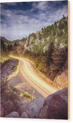 Boulder Canyon Beams Of Light Wood Print by James BO  Insogna