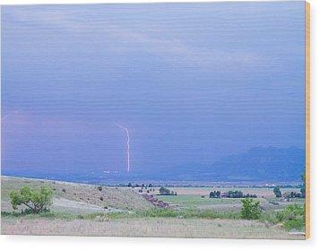 Boulder Colorado Lightning Strike Wood Print by James BO  Insogna