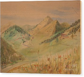 Boulder Colorado Painting Wood Print
